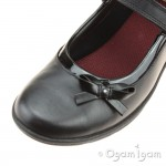 Clarks Venture Star Girls Black School Shoe