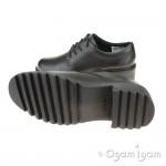 Clarks Frankie Grove Girls Black School Shoe