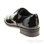 Clarks Drew Star Girls Black Patent School Shoe