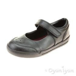 Clarks Mini Sky Girls Black School Shoe