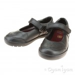 Clarks Mini Sky Girls Black School Shoe