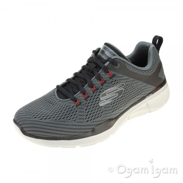 Skechers Equalizer Mens Charcoal-Black Trainer