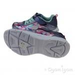 Skechers Lite Beams Dance N Glow Girls Navy-Multi Trainer