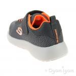 Skechers Dynamtie Ultra Torque Boys Charcoal-Orange Trainer