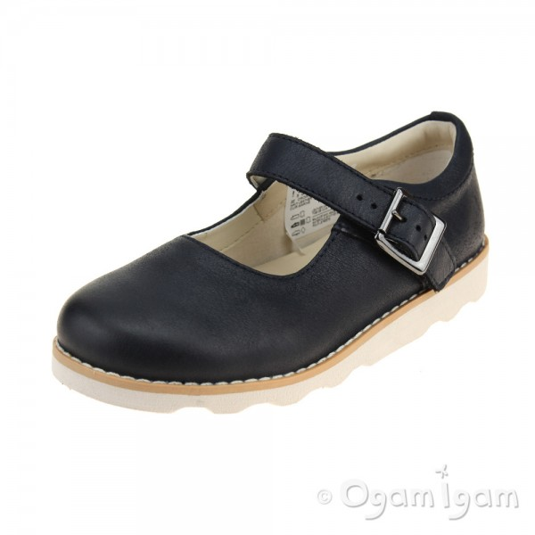 Clarks Crown Honor Girls Navy Shoe