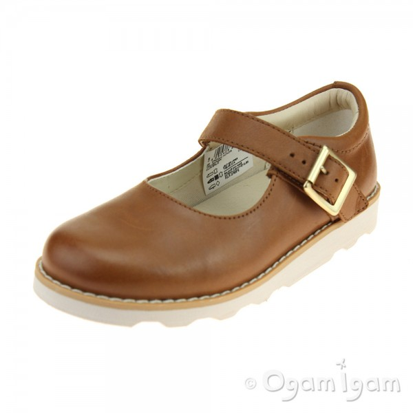 Clarks Crown Honor Girls Tan Shoe