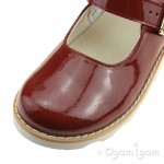 Clarks Crown Honor Senior Girls Orange Patent Shoe