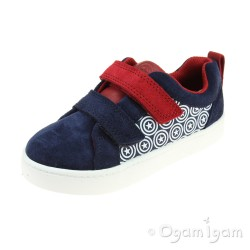 Clarks City Hero Lo Boys Blue Suede Shoe