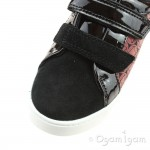 Clarks City Hero Lo Boys Black/-Red Shoe