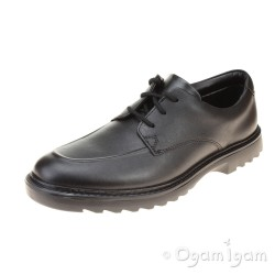 Clarks Asher Grove Boys Black School Shoe