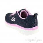 Skechers Graceful Get Connected Womens Navy-Pink Trainer