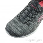 Skechers Empire D'Lux Womens Grey Trainer