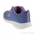 Skechers Ultra Flex First Choice Girls Periwinkle-Pink Trainer