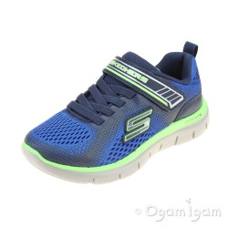 Skechers Flex Advantage Geo Blast Boys Blue-Navy Trainer