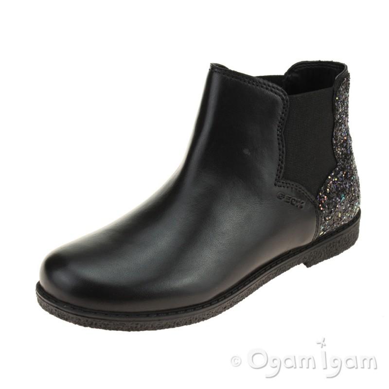 eccf097acb81 Geox Shawntel Girls Black Boot