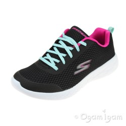 Skechers Go Run 600 Fun Run Girls Black-Multi Trainer