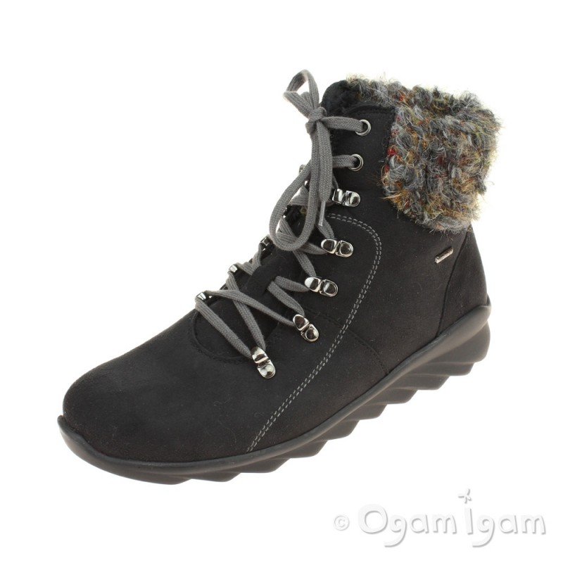 440f6f7f Romika Vegas 11 Womens Black Waterproof Boot | Ogam Igam