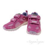 Geox Shuttle Girl Girls Fuchsia-Pink Trainer