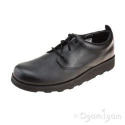 Clarks Crown London Boys Black School Shoe