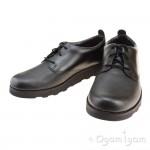 Clarks Crown London Boys Black School Shoe