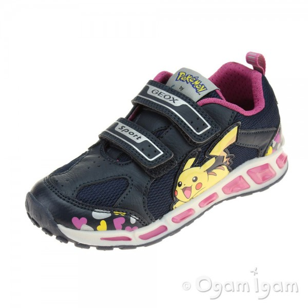 Geox Shuttle Girl Girls Navy-Fuchsia Trainer