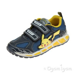 Geox Shuttle Boy Boys Navy-Yellow Trainer