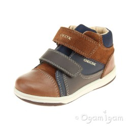 Geox New Flick Boy Boys Brandy-Navy Boot