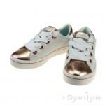 Skechers HiLite Medal Toes Girls White-Rose Gold Shoe
