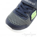 Skechers Comfy Flex Hyperstride Boys Charcoal-Navy Trainer