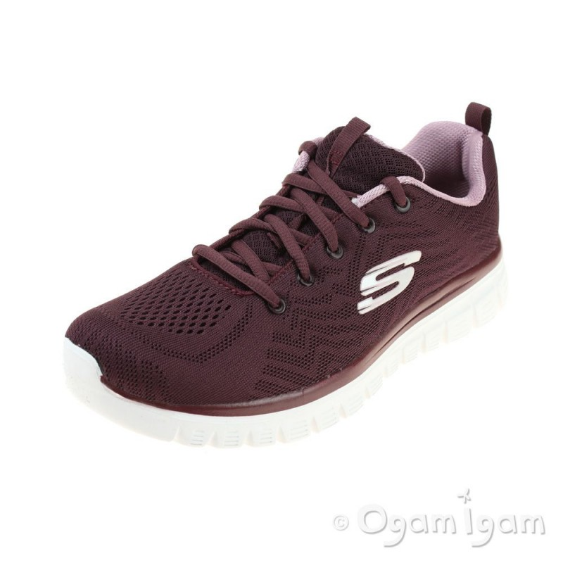 ffa926be9a32 Skechers Graceful Get Connected Womens Wine Trainer