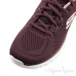 Skechers Graceful Get Connected Womens Wine Trainer