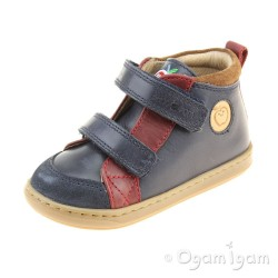 Shoo Pom Bouba New Scratch Boys Navy-Red-Nuts Boot