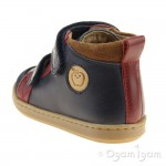 Shoo Pom Bouba New Scratch Boys Navy-Red-Nuts Boot