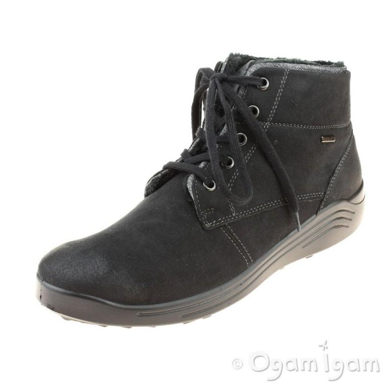 015281a3 Romika Madera 08 Womens Black Waterproof Boot | Ogam Igam