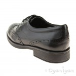 Geox Agata Brogue Girls Black School Shoe