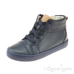 Clarks City Oasis Hi Boys Navy Combi Boot