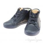 Clarks City Oasis Hi Junior Boys Navy Combi Boot