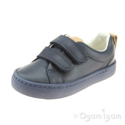 Clarks City Oasis Junior Boys Navy Shoe