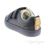 Clarks City Oasis Junior Boys Navy Shoe