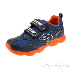 Geox Munfrey Boys Navy-Orange Trainer
