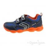 Geox Munfrey Boys Navy-Orange Trainer