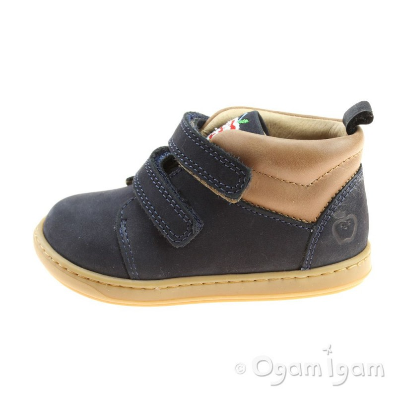 1fda238a92af ... Shoo Pom Bouba Scratch Wool Infant Boys Navy-Nuts Boot ...