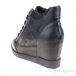 Geox Carum Womens Navy Wedge Ankle Boot