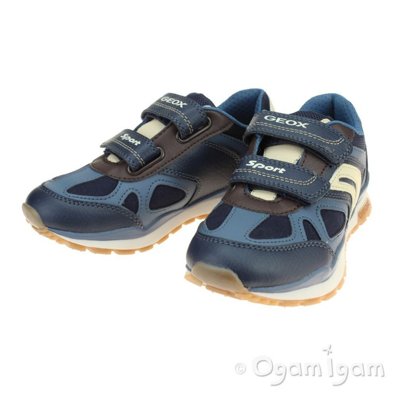 2f19f71be0306 Geox Pavel Boys Navy Trainer Geox Pavel Boys Navy Trainer ...