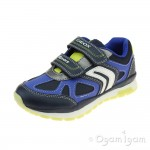 Geox Pavel Boys Navy-Lime Trainer