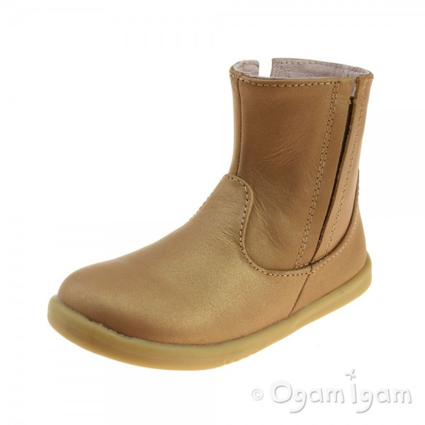 Bobux Shire Girls Caramel Shimmer Boot