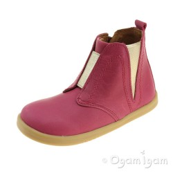 Bobux Signet Girls Dark Pink Boot