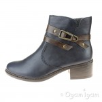 Rieker 7768315 Womens Navy Ankle Boot