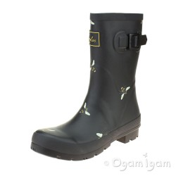 Joules Molly Bees Womens Black Botantical Bees Wellington Boot