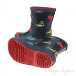 Joules Scout and About Welly Boys Navy Wellington Boot